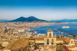 Vue de Naples et le Vésuve, Naples, Campanie,Italie