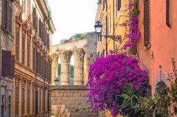Rue et forum romain, Rome, Italie