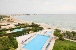 Vue aérienne, piscine, Hôtel Del Levante, Pouilles