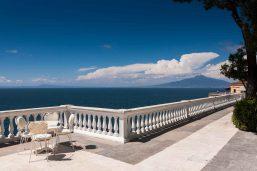 Terrasse, Grand Hotel Cocumella, Sorrente, Campanie, Italie