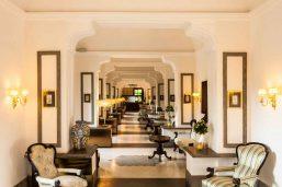 Hall, Grand Hotel Cocumella, Sorrente, Campanie, Italie