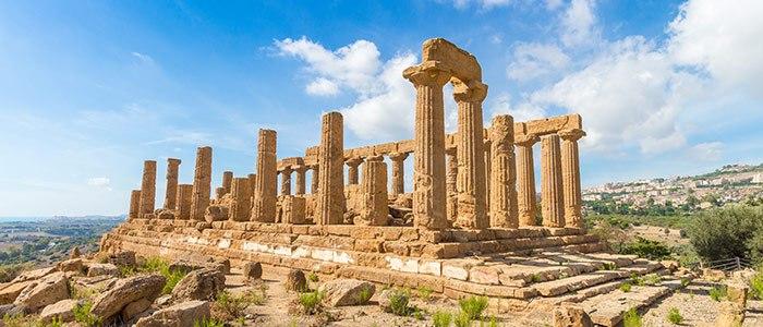 Ruines de la vallée des temples, Agrigente, à visiter dans le sud de la Sicile