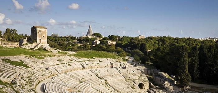 Syracuse, amphithéâtre, Sicile