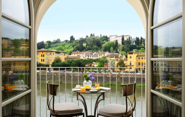 Chambre deluxe avec balcon, Hotel Balestri, Florence, Italie