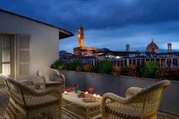 Terrasse, Hotel Balestri, Florence, Italie