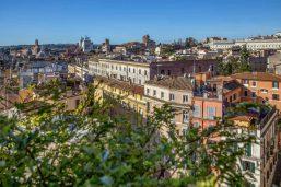 Vue depuis la terrasse, Hôtel Monti Palace, Rome, Italie