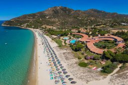 Vue aérienne, Hotel & Résidence Cormoran, Sardaigne, Italie