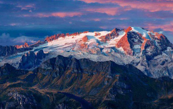 Glacier Marmolada, Dolomites, Italie