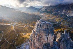 Route panoramique de Cinque Torri, Dolomites, Italie
