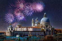 Basilique Santa Maria, Venise, Nouvel An, Italie
