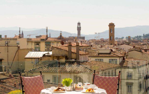 Petit déjeuner, Hotel Kraft, Florence, Italie