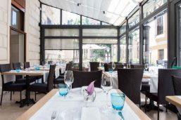 Restaurant Il Roseto, hôtel Rose Garden Palace, Rome, Latium, Italie