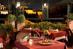 Restaurant Roof Tancredii, hôtel Albergo Ottocento, Rome