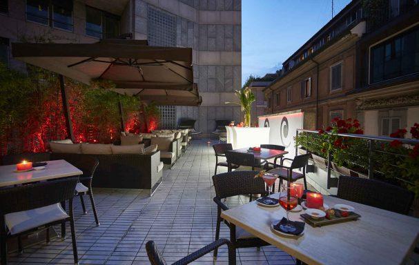 Terrasse, hôtel The Gray, Milan