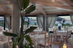 Restaurant I Fenicotteri, Hotel Abi d'Oru, Porto Rotondo, Sardaigne, Italie