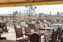 Terrasse du restaurant, Hotel Kraft, Florence, Italie