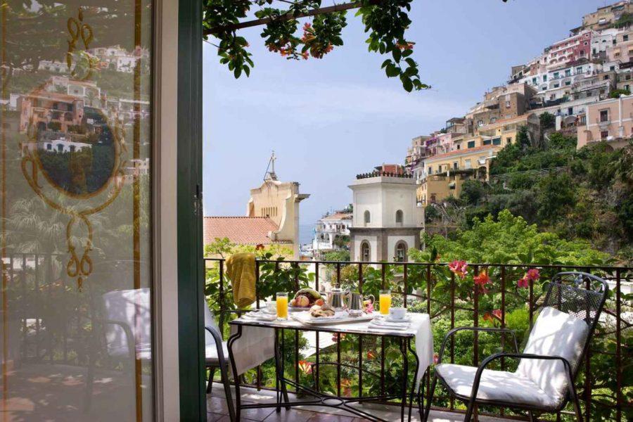 Chambre supérieure vue mer latérale, hôtel Palazzo Murat, Positano, Campanie, Italie
