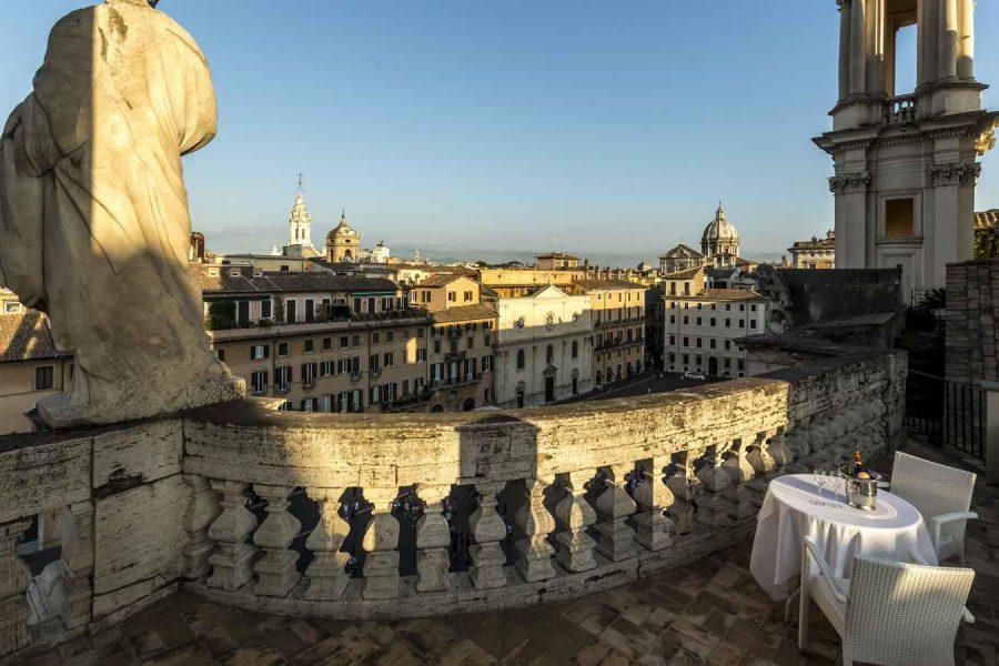 Terrasse, Eitch Borromini, Rome, Italie