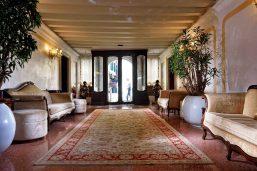 Lobby, Hôtel Ai Reali, Venise, Italie.