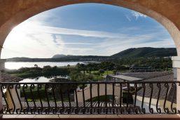 Vue depuis l'Hotel Abi d'Oru, Porto Rotondo, Sardaigne, Italie