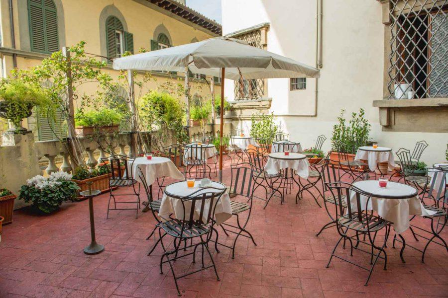 Terrasse, Hotel Paris, Florence, Italie