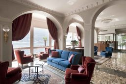 Lobby, hôtel Villa Flori, Côme, Lombardie, Italie