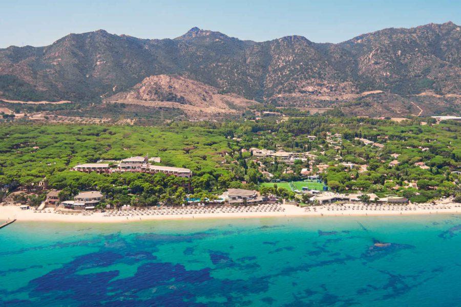 Vue aérienne, Forte Village Resort, Sardaigne, Italie