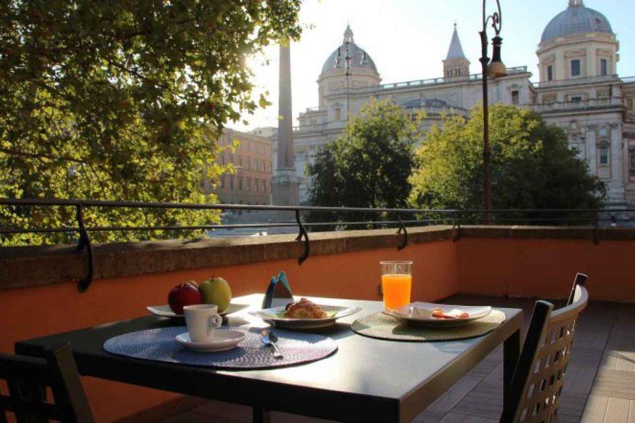 Terasse, DNB House Hotel, Rome, Italie