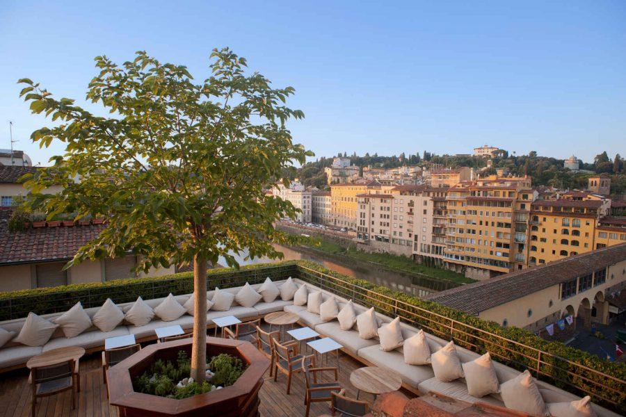 Bar Terrazza, Hôtel Continentale, Florence, Italie.