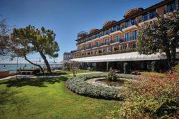 Façade et jardin, Belmond Hotel Cipriani, île de la Giudecca, Venise, Itlaie