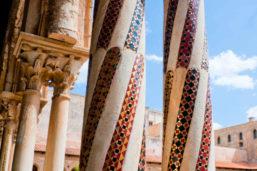 Cloître de la cathédrale, Monreale, Sicile, Italie