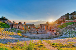 Théâtre antique, Taormine, Sicile, Italie
