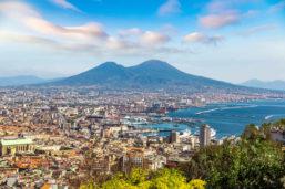 Vue aérienne, Vésuve, Naples, Italie