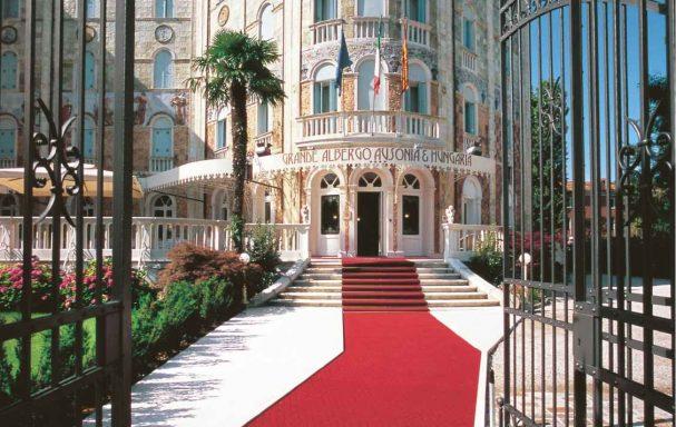 Entrée, Hotel Ausonia Hungaria, Lido, Venise, Italie