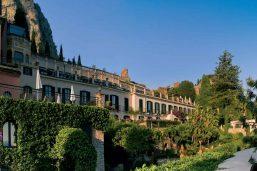 Façade, hôtel Belmond Grand Hotel Timeo, Taormine, Sicile, Italie