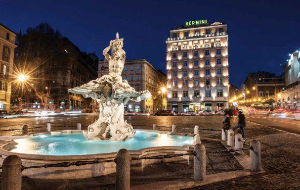 Vue extérieure, hôtel Bernini Bristol, Rome
