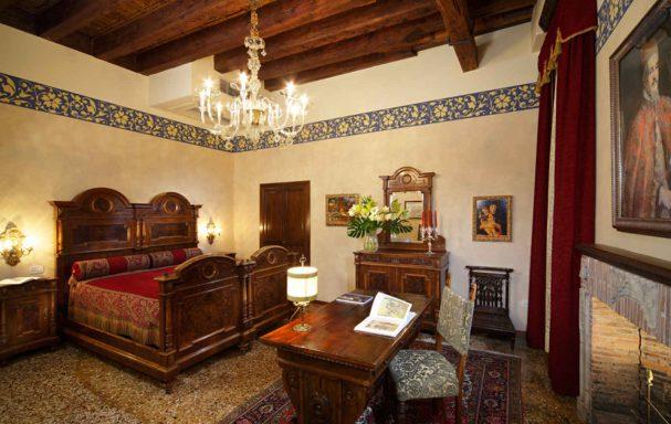 Chambre, Palazzo Priuli, Venise, Italie