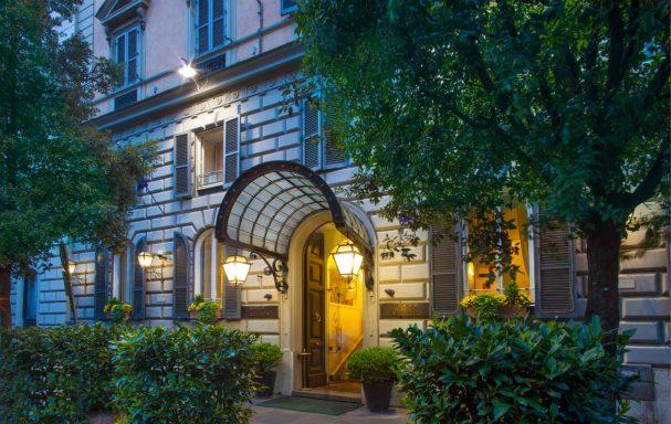 Façade extérieure, Ludovisi Palace Hotel, Rome