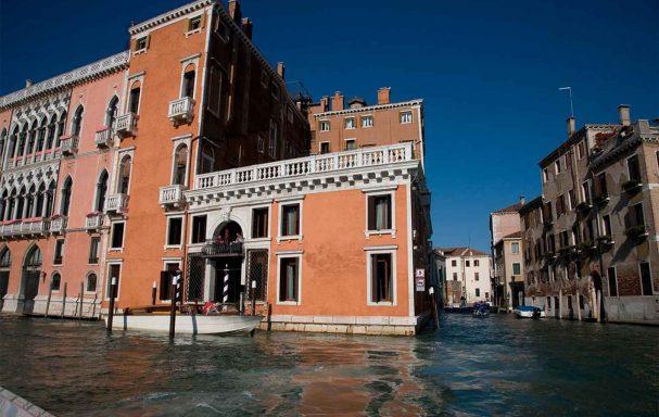 Vue extérieure, Palazzo Barbarigo Sul Canal Grande, Venise, Italie