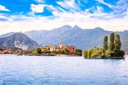 Isola dei Pescatori, île aux pêcheurs du lac Majeur, îles Borromées, Stresa Piedmont, Italie