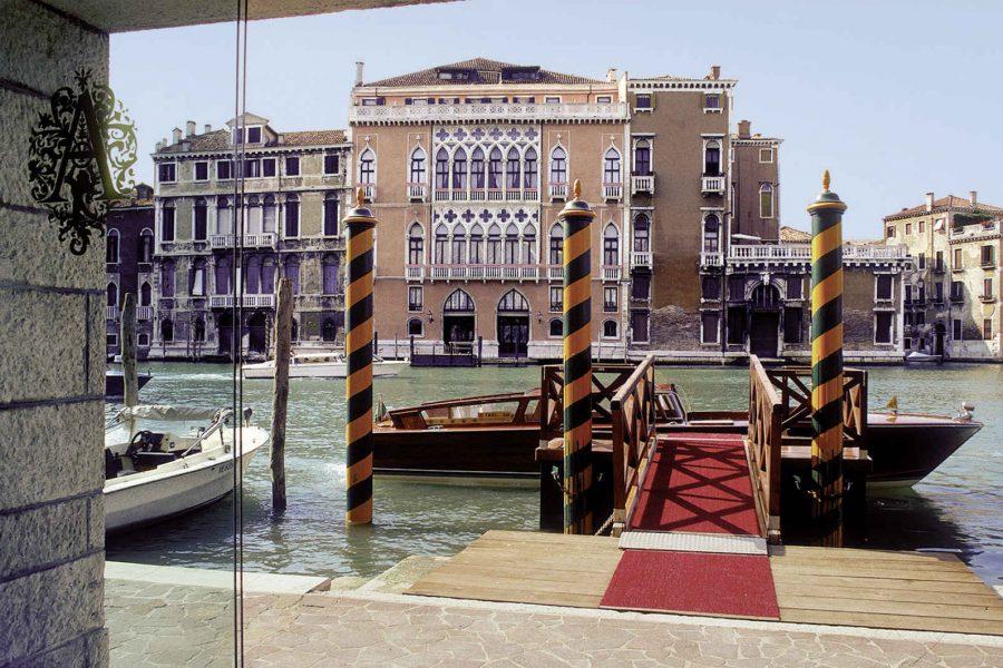 Quai de l'hôtel, hôtel Palazzo Sant'Angelo, Venise, Italie